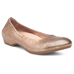 "Dansko ""Lisanne"" Gold Metallic Leather Flats"
